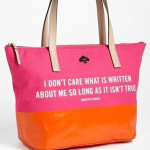 Kate Spade Dorothy Parker Quote Francis Tote Bag